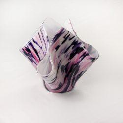 Glass Drape Vase Spectrum Geneva Pink 1