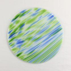 Glass Cheese Platter Spectrum Glass Spirit Seattle1