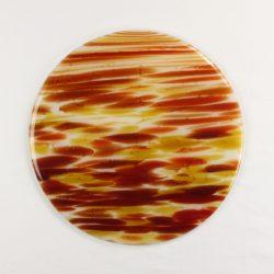 Glass Cheese Platter Spectrum Glass Spirit Sedona1