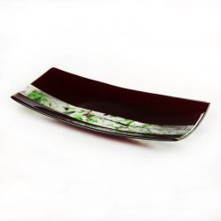 Glass Platter Cherine Red & Green 1